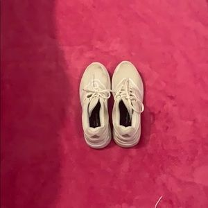 White Adidas Shoes!!